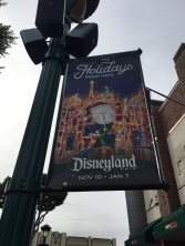Downtown Disney Holiday Sign