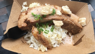 Braised Pork Belly Adobo with garlic fried rice