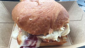 Roast Turkey Slider with cranberry sauce
