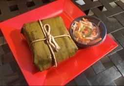 Banh Chu'ng – Sticky rice cake with pork